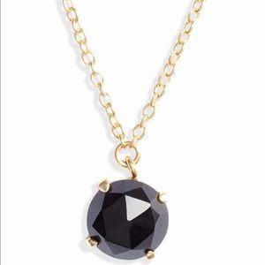 Argento Vivo Stone Pendant Necklace BlackÓnix Gold